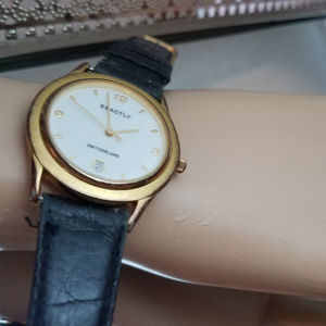 Exactly Swiss Watch Unisex Working Leather Band